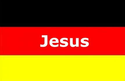 Deutschlandfahne Jesus