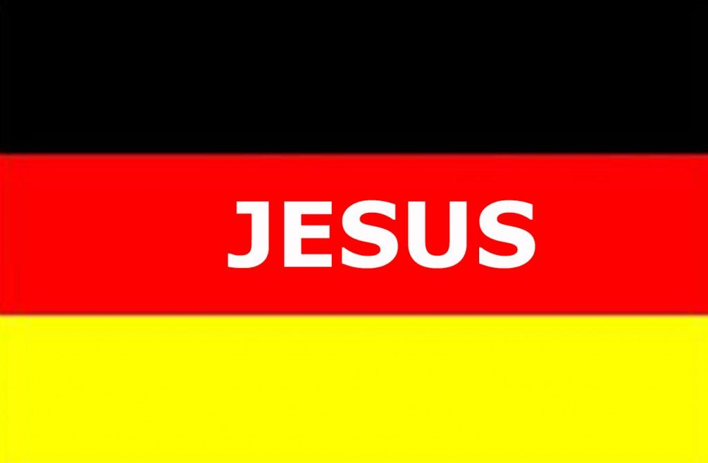 Deutschlandflagge Jesus