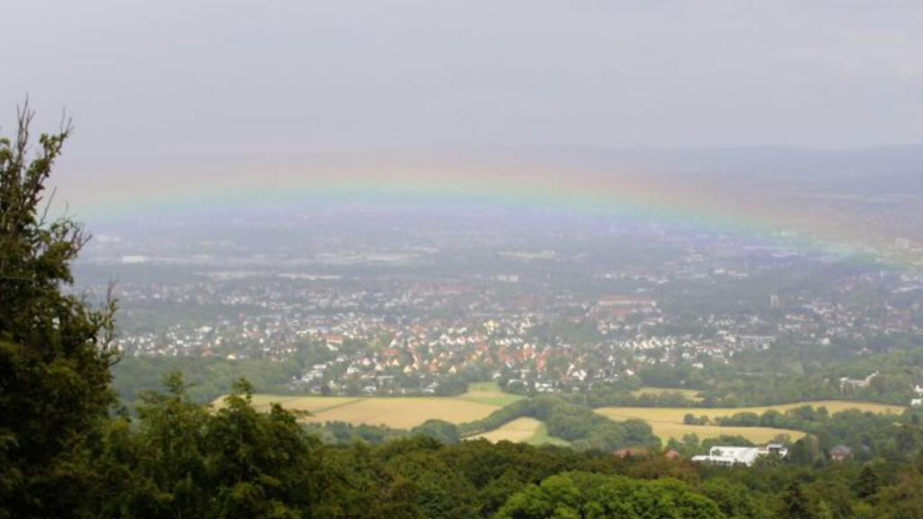 Regenbogen Kassel Bergpark Wilhelmshöhe Herkules Segen